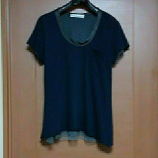 サカイラック(sacai luck)のsacai luck  カットソー(紺)(Tシャツ(半袖/袖なし))