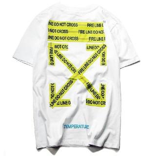 オフホワイト(OFF-WHITE)のoff white ホワイト Tシャツ Lサイズ(Tシャツ/カットソー(半袖/袖なし))