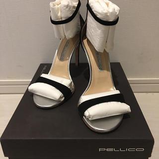 PELLICO - PELLICO ペリーコ ストラップサンダル  サンダル 37.5 ブラック