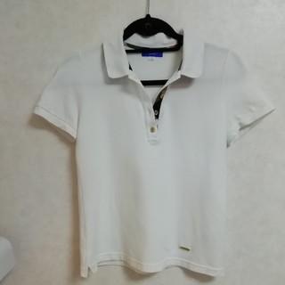 BURBERRY BLUE LABEL - ブルーレーベルクレストブリッジ ポロシャツ ホワイト