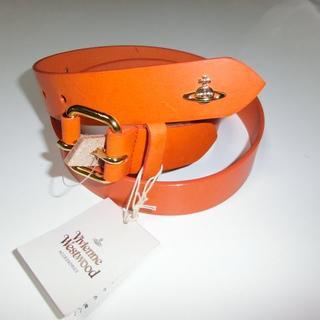 ヴィヴィアンウエストウッド(Vivienne Westwood)の新品 ヴィヴィアンウエストウッド ベルト 牛革 オレンジ ①(ベルト)