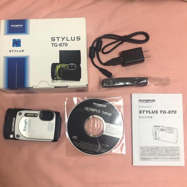 OLYMPUS(オリンパス)のTG-870 ホワイト スマホ/家電/カメラのカメラ(コンパクトデジタルカメラ)の商品写真