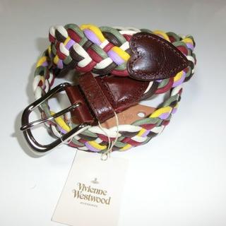 ヴィヴィアンウエストウッド(Vivienne Westwood)の新品 ヴィヴィアンウエストウッド ベルト 牛革 編み オーブ(ベルト)