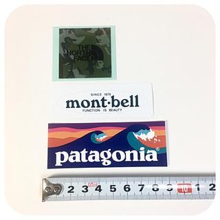パタゴニア(patagonia)のノースフェイス モンベル   パタゴニア ステッカー 3点 ☆ カモ グリーン (サーフィン)