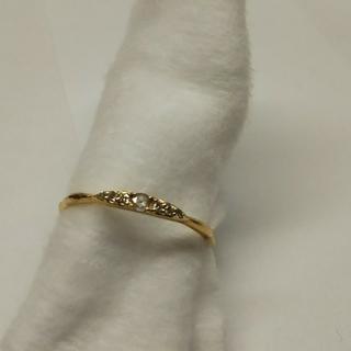 アガット(agete)のK18 ダイヤモンドリング(リング(指輪))
