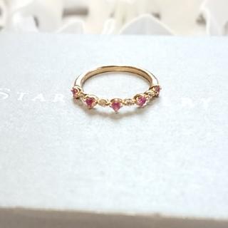 スタージュエリー(STAR JEWELRY)のStar jewelry  ピンクサファイア ピンキーリング 18K(リング(指輪))