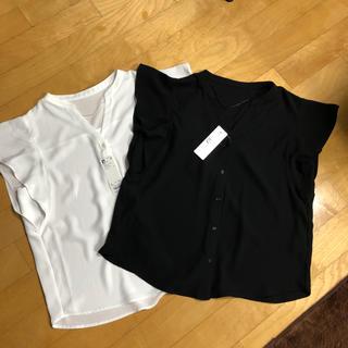 ジーユー(GU)のGU フレアスリーブブラウス2点セット(シャツ/ブラウス(半袖/袖なし))