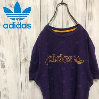アディダス(adidas)の【希少】90s アディダスオリジナルス ロゴ総柄&ロゴプリントTシャツ(Tシャツ/カットソー(半袖/袖なし))