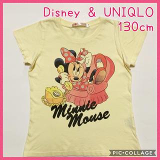 Disney - ☆UNIQLO &DisneyコラボTシャツミニーマウス☆130cm(^^)