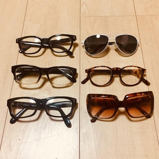 ユニクロ(UNIQLO)のサングラス&伊達メガネセット  合計6本!(サングラス/メガネ)