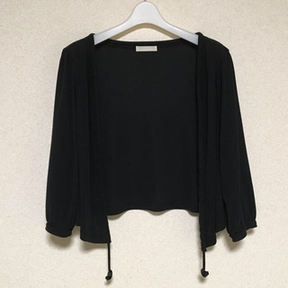 アーモワールカプリス(armoire caprice)の3WAY カーディガン 七分袖 黒(カーディガン)