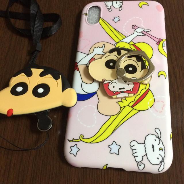 ルイヴィトン iphone8 ケース 激安 | iPhone XRケース スマホリング ストラップ付きの通販 by m's shop|ラクマ
