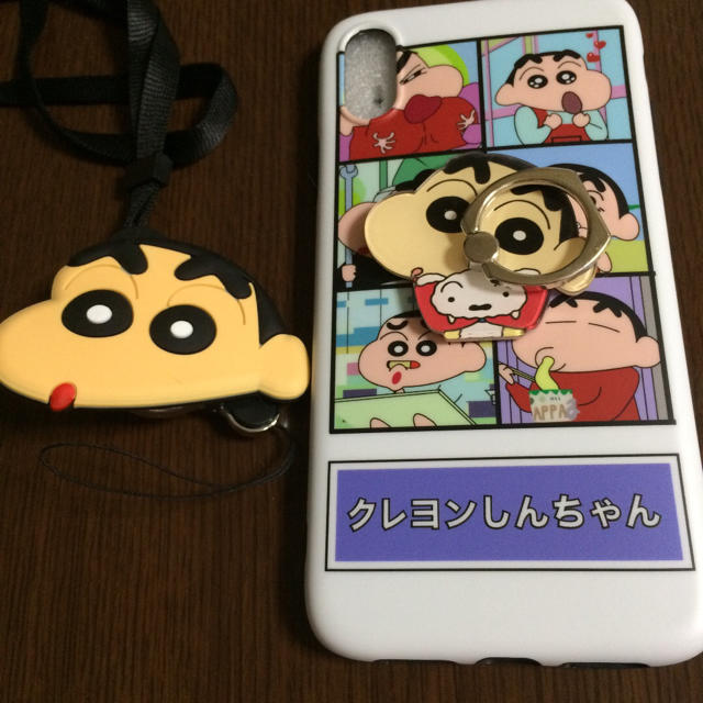 iphone8 リング 付き クリア ケース / iPhone XRケース スマホリング ストラップ付きの通販 by m's shop|ラクマ