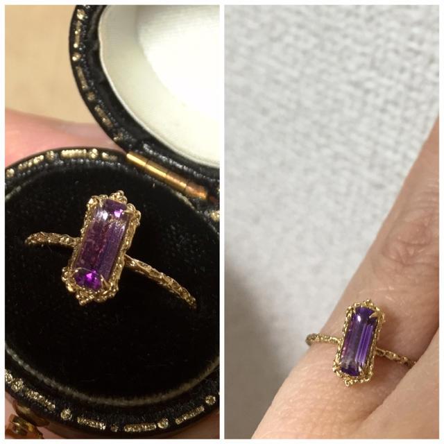 H.P.FRANCE(アッシュペーフランス)のtime jewelry 11.5号 アメジスト リング タイムジュエリー レディースのアクセサリー(リング(指輪))の商品写真