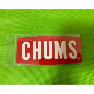 チャムス(CHUMS)の正規品 チャムス CHUMS ロゴ ステッカー 赤(その他)
