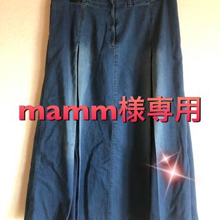 セシール(cecile)の大きいサイズ デニムロングスカート 3L(ロングスカート)