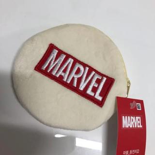 マーベル(MARVEL)の未使用 marvel ポーチ 白(キャラクターグッズ)