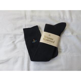 ヴィヴィアンウエストウッド(Vivienne Westwood)の新品 ヴィヴィアンウエストウッド 刺繍入りハイソックス ネイビー(ソックス)