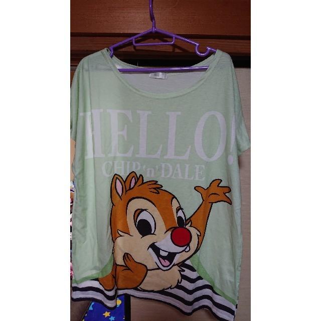 しまむら(シマムラ)の値下げ💴⤵️ディズニー チップ&デール Tシャツ レディースのトップス(Tシャツ(半袖/袖なし))の商品写真