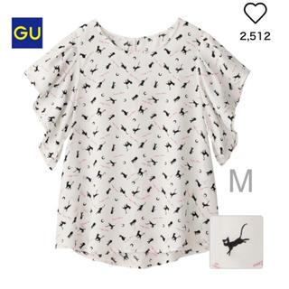 ジーユー(GU)のタグ付 GU ルナプリントブラウス(シャツ/ブラウス(半袖/袖なし))