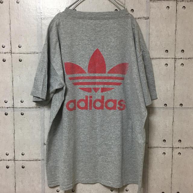 adidas(アディダス)の【大人気】【90s】激レア アディダス 両面トレフォイルロゴ  Tシャツ メンズのトップス(Tシャツ/カットソー(半袖/袖なし))の商品写真