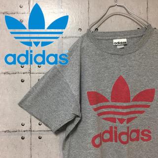 アディダス(adidas)の【大人気】【90s】激レア アディダス 両面トレフォイルロゴ  Tシャツ(Tシャツ/カットソー(半袖/袖なし))
