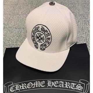 クロムハーツ(Chrome Hearts)の新品 クロムハーツ 帽子 キャップ ホワイト ホースシューフリーサイズ(キャップ)