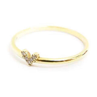 アーカー(AHKAH)のAHKAH ローラハート リング 3号 K18 ダイヤモンド(リング(指輪))