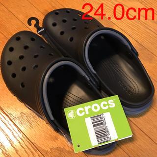 クロックス(crocs)のクロックス24cm duet max  clog black/charcoal(サンダル)