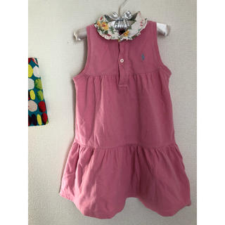 ラルフローレン(Ralph Lauren)のラルフローレン ワンピース ピンク 襟 花柄 ブルマ付き(ワンピース)