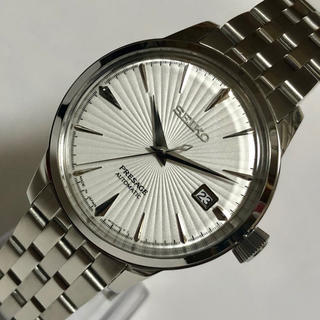 セイコー(SEIKO)のセイコー プレサージュ SEIKO 自動巻き メンズ腕時計 白 新品未使用品(腕時計(アナログ))