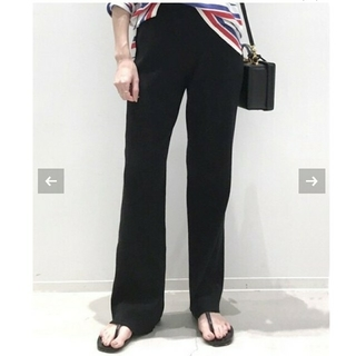 L'Appartement DEUXIEME CLASSE - アパルトモン Rib Knit パンツ ブラック 36