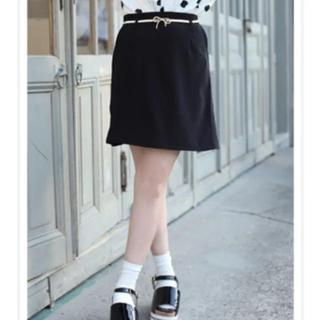 ワンアフターアナザーナイスクラップ(one after another NICE CLAUP)のNICE CLAUP 今期 ベルト付き台形スカート(ミニスカート)