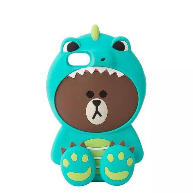 iphone8plus ガラス ケース - 恐竜ブラウンiPhone SEから XR. XSMAXまで各機種対応の通販 by GV kim's shop|ラクマ