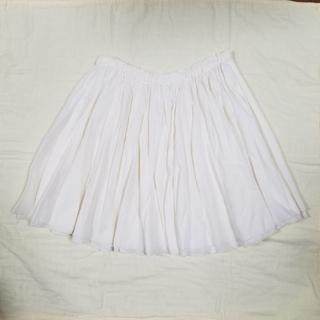 エヘカソポ(ehka sopo)のペチコート付きギャザースカート(アイボリー)(ミニスカート)