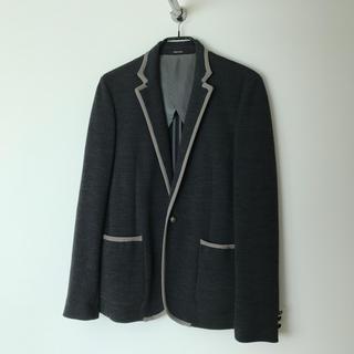 コムサメン(COMME CA MEN)の【コムサ】メンズジャケット (Lサイズ・グレー)comme ca men(テーラードジャケット)