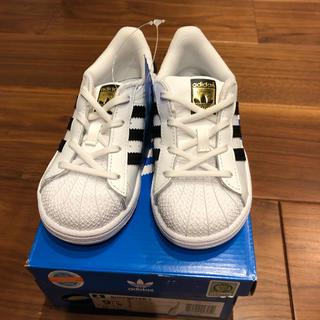 アディダス(adidas)の新品 adidas アディダス スーパースター 15.5センチ(スニーカー)