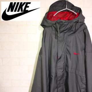 アディダス(adidas)のNIKE ナイロンジャケット  赤 メッシュ パーカー 90s(ナイロンジャケット)