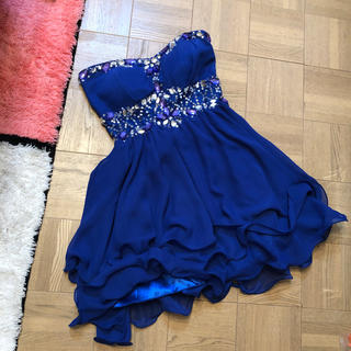 ジュエルズ(JEWELS)のジュエルズのブルーのドレス パーティードレス キャバドレス(ミニドレス)
