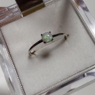 ★天然ホワイトオパールリング11号(リング(指輪))