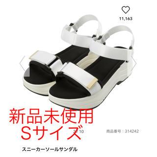 ジーユー(GU)の新品未使用 GU 完売★スニーカーソールサンダル 白 Sサイズ(サンダル)