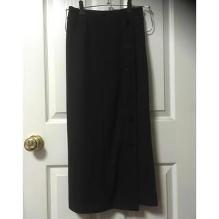 しまむら - 新品しまむらワッフルボタンロングタイトスカートL黒
