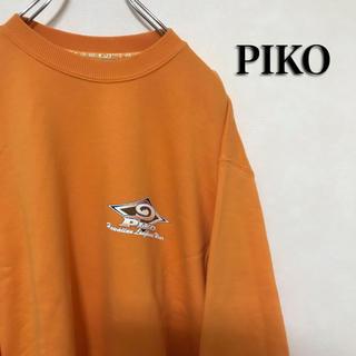 ピコ(PIKO)の90's PIKO ピコ スウェット トレーナー ビッグロゴ サーフ オレンジ(スウェット)