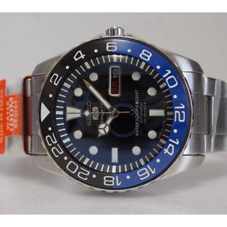 セイコー(SEIKO)の【限定1本】セイコー5 SNZF17 mod カスタム  GMT青(腕時計(アナログ))