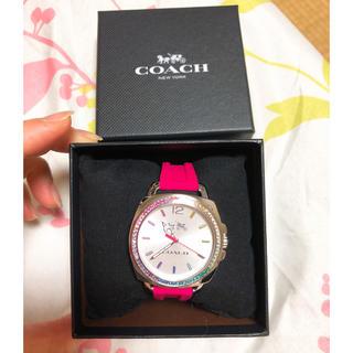COACH - コーチ 腕時計 ボーイフレンド シリコンベルト ピンク