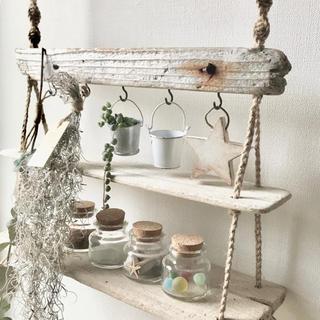 吊るすインテリア˚✧₊流木のウォールシェルフ 飾り棚