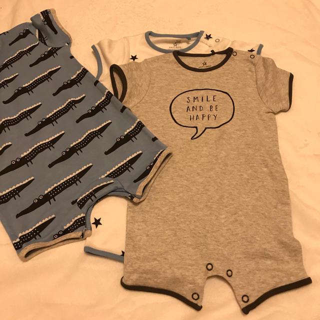 NEXT(ネクスト)のネクスト ベビー服 3枚組 キッズ/ベビー/マタニティのベビー服(~85cm)(ロンパース)の商品写真