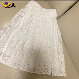 GU - 白レース  スカート