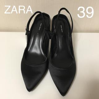 ZARA - 新品  ZARA  バックストラップ  パンプス  黒  39