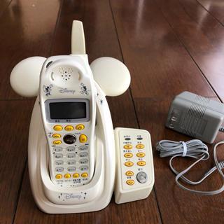 美品☆デジタルコードレス電話機  ディズニー ミッキーモデル 留守番電話